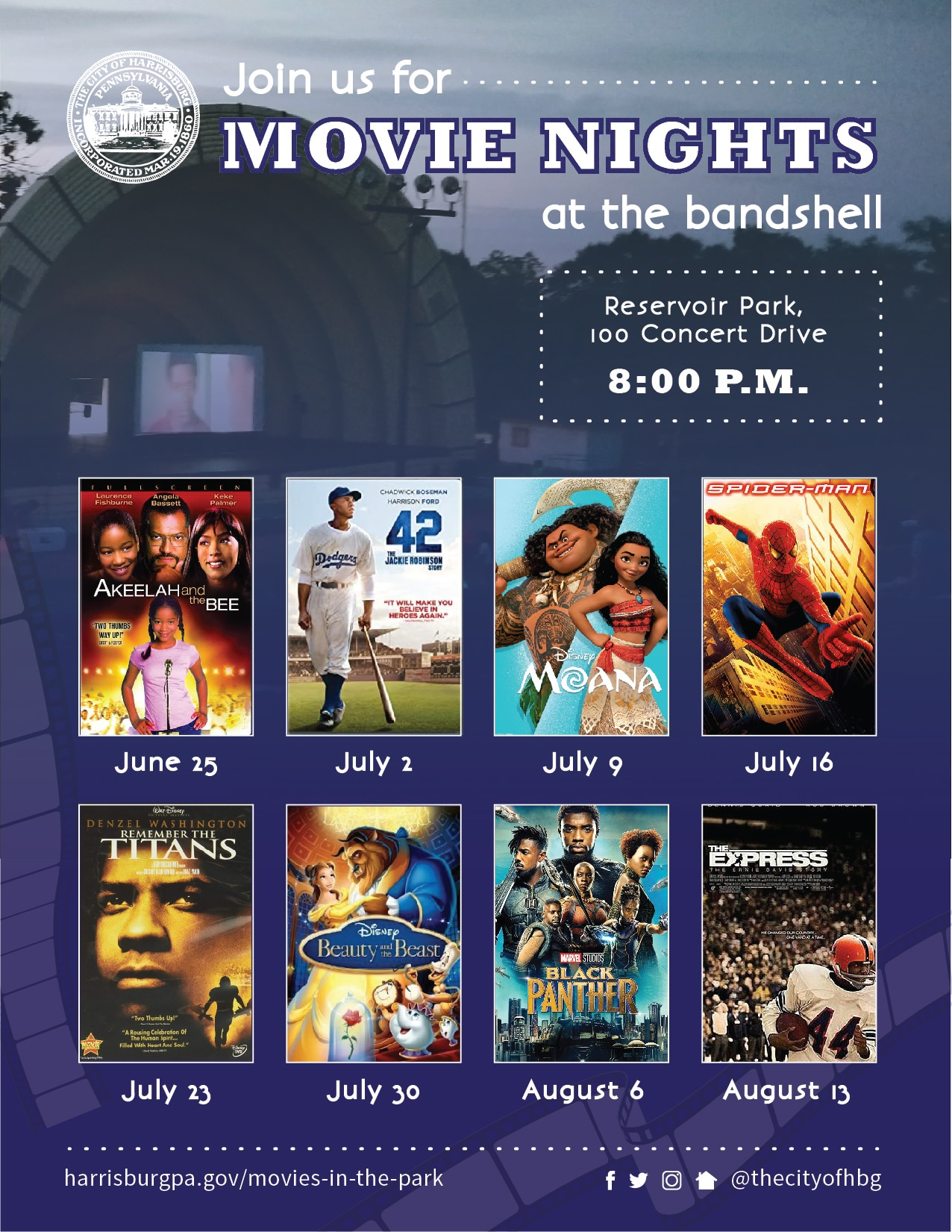 movied in the park flyer